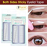 double sided eyelid tape - 200 Pairs Both Sides Sticky Ultra Invisible Double Eyelid Tape Stickers Instant Eyelid Lift Without Surgery, Medical Grade Latex Free Hypoallergenic, Perfect for Hooded, Droopy, Uneven, Mono-eyelids