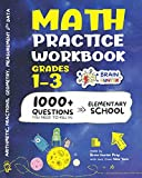 Math Practice Workbook Grades 1-3: 1000+ Questions