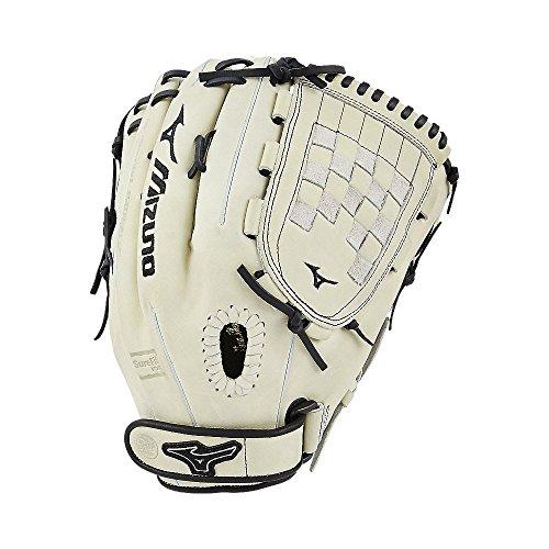 (Mizuno MVP Prime Fastpitch GMVP1300PSEF6 Outfield/Pitcher Model Gloves, Silver Black)