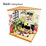 Rolife DIY Mini House Furniture Kit with Furniture and Accessories-Home Decor- Model Building sets-Super Fun Playset-Creative Birthday Mothers Day Gift for Boys and Girls