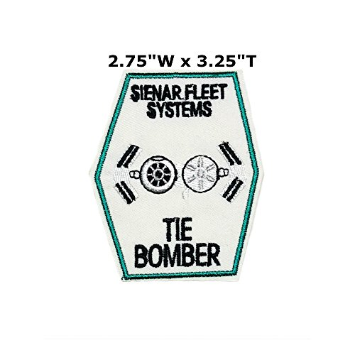 Star Wars Empire Vader Sith Imperial Tie Bomber Patch Ship Comics Sci-Fi New Han Solo Movie Embroidered Sew or Iron-on Badge DIY (Suicide Bombers Costume)