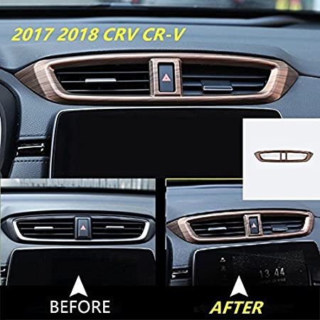 Diking For 2017 2018 Honda CRV Peach Wood Grain Air Vent Outlet Frame Panel Cover (Air Vent Outlet)