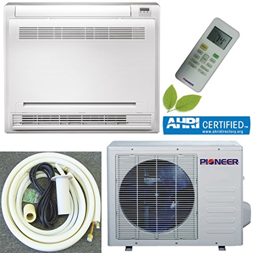 Review Pioneer 1 Ton Full Set Floor Console 12000 BTU Split Inverter Air Conditioner with Heat Pump,...