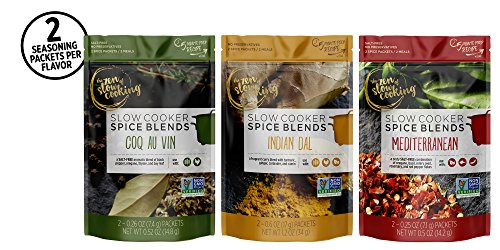 the zen of slow cooking Global Gourmet Spice Blend Collection, Set of 6 Seasoning Packets for Crockpot, Instant Pot, and Multi-cookers