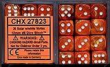Chessex Dice d6 Sets: Vortex Solar Orange Marble