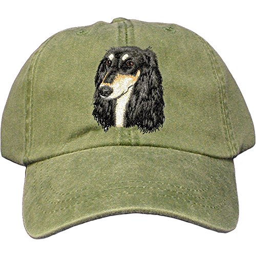 (Cherrybrook Dog Breed Embroidered Adams Cotton Twill Caps - Spruce -)