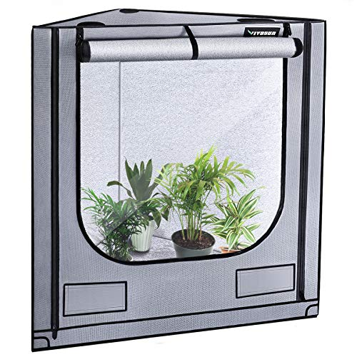 VIVOSUN Triangle Grow Tent with Bigger View Window for Indoor Plant Growing 41