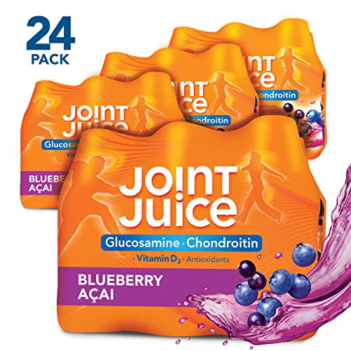 Joint Juice Glucosamine and Chondroitin Supplement, Blue Acai, 8 fl oz Bottle, (24 Count)