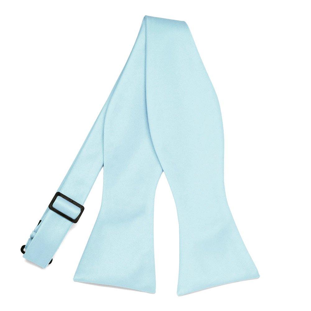 TieMart Light Blue Self-Tie Bow Tie