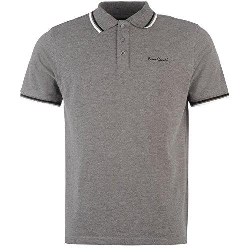 Hommes Gris shirt Avec Col Polo Cardin Marine Le Rappel Pierre Sur T pour Bleu OwxvZU