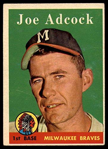 Baseball MLB 1958 Topps #325 Joe Adcock VG/EX Very Good/Excellent Braves
