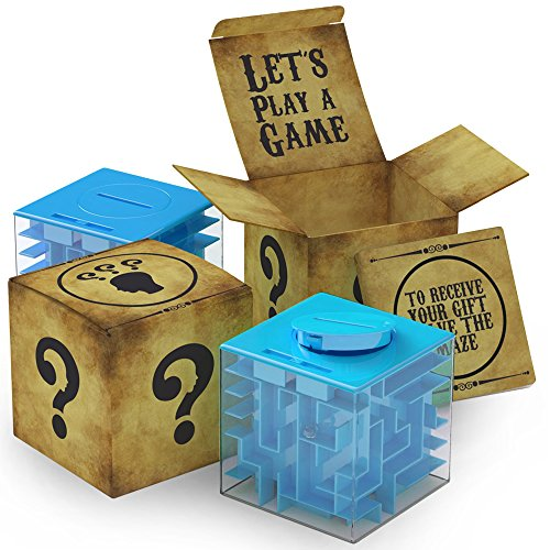 aGreatLife Money Maze Puzzle Box - Perfect Way to Store Give Money, Cube Money Card Holder Kids, Boy, Girls, Teens Adults