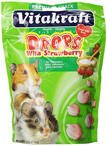 Vitakraft Strawberry Drops for Hamsters (2 Pack) by Vitakraft