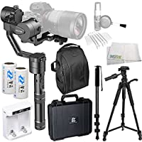 Zhiyun-Tech Crane V2 3-Axis Handheld Gimbal for DSLR & Mirrorless Cameras, CNC Aluminum Alloy Construction w/ 360° Brushless Motors, 1-Year Warranty Essentials Bundle