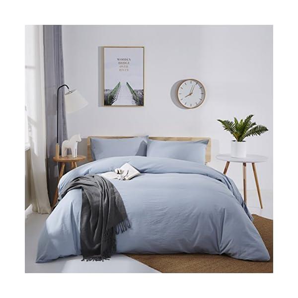 OAITE Duvet Cover Set, 100% Cotton Duvet Cover, Ultra Soft and Easy Care, Bedding...