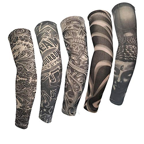 Men's Accessories Professional Sale Anti-sunshine Fashion Men And Women Tattoo Arm Leg Sleeves High Elastic Nylon Halloween Party Dance Party Tattoo Sleeve Apparel Accessories