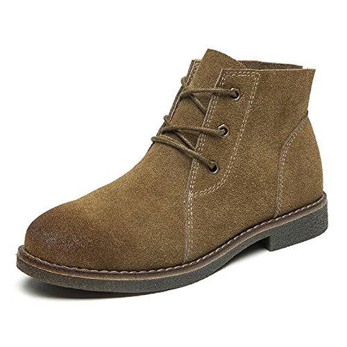Shoes Boots Camel Women's Khaki Ankle for ZHZNVX Casual Cowhide Comfort Bootie Nubuck Black leather Khaki Booties Gray Block HSXZ Boots Heel Fall Winter EpHHvAqw