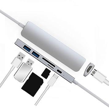 Amazon.com: Conversor tipo C USB Hub para MacBook Pro ...