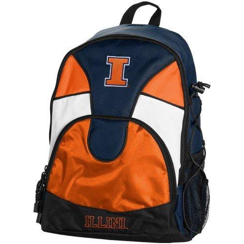 Illinois Fighting Illini Navy Blue-Orange Double Trouble Backpack by Football Fanatics