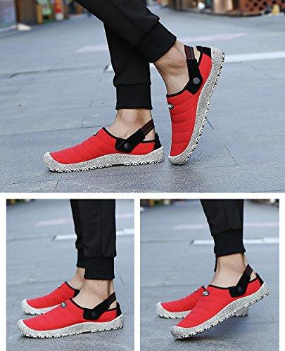Walking Women Slippers Shoes Clogs Canvas Casual Mens Mule On Sneakers Red Slip HpcqdATw