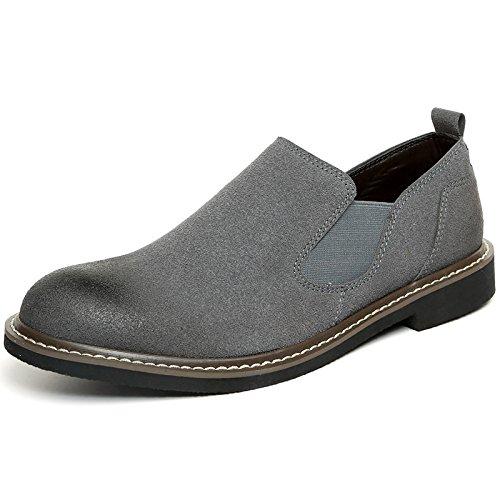 WZG zapatos casuales zapatos casuales británicos cepillo de modelos de explosión del dedo del pie del cordón de zapatos planos Grey