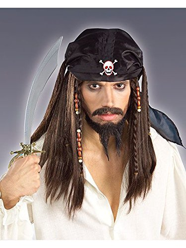 Forum Novelties Pirate Wig with Bandana Scarf - One Size]()