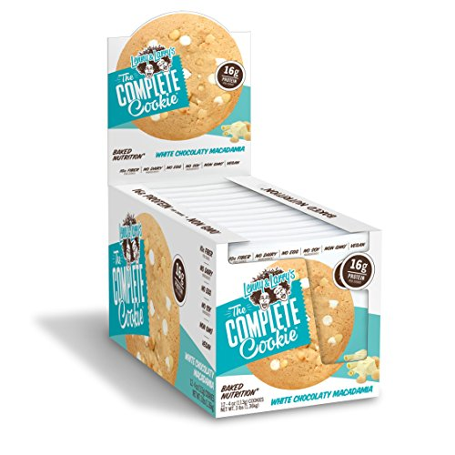 Lenny & Larry's The Complete Cookie, White Chocolate Macadamia, 4 Ounce Cookies, 12 Count ()