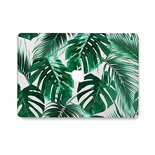 Pack Fits Apple - MacBook Air 13 Inch Case A1932 (2018 Release), AQYLQ Matte Plastic Hard Shell Cover for Apple MacBook Air 13 Inch with Retina Display fits Touch ID - Palm Leaf