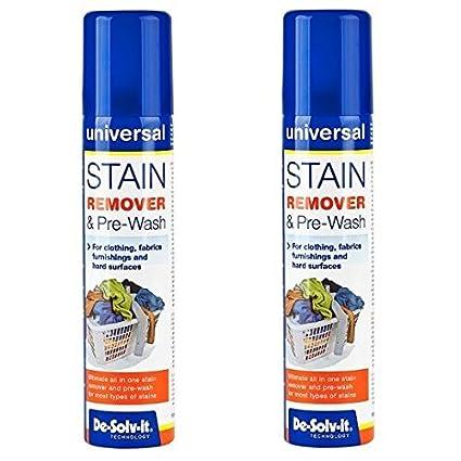 2 x de-solv-it ® DESOLVIT quitamanchas y prelavado spray 100 ml para