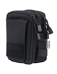 LefRight Multipurpose Tactical Molle Utility Nylon Pouch Bag with Detachable Quick Release Strap for Outdoor Activities
