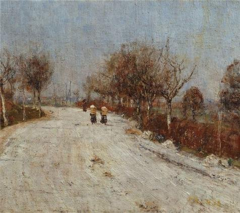 Oil Painting 'Christian Rohlfs-The Road To Gelmeroda,1893' Printing On High Quality Polyster Canvas , 18x20 Inch / 46x51 Cm ,the Best Bathroom Decoration And Home Artwork And Gifts Is This Vivid Art Decorative Prints On Canvas