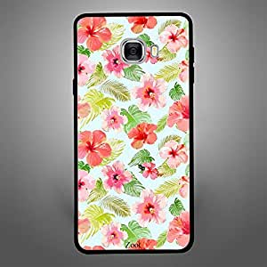 Samsung Galaxy C7 Red Pink FLowers