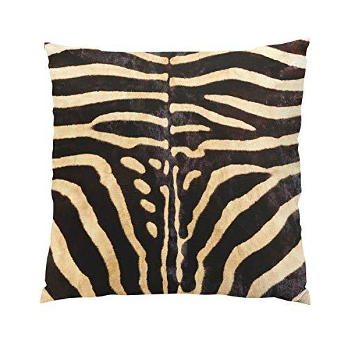 Suklly Brown Zebra Skin Plush Hidden Zipper Home Sofa for sale  Delivered anywhere in USA