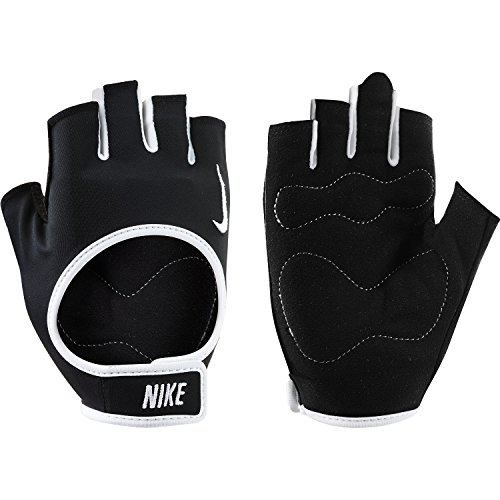 Nike Women's Fit Training Gloves, Small (Black/White)