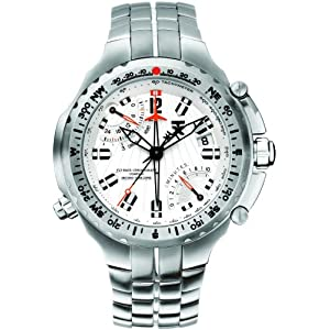 TX Men's T3C051 770 Series Titanium Fly-back Chronograph Dual-Time Zone Watch