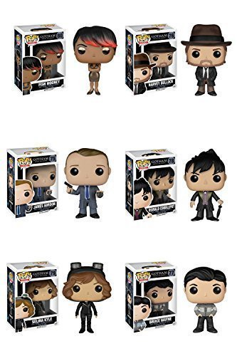 Harvey Bullock, James Gordon, Oswald Cobblepot, Selina Kyle, Bruce Wayne Pop! Vinyl Figures Set of 6 ()