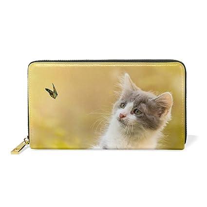 Gato Gato Gato Mariposa Monedero Cremallera Billetera de ...