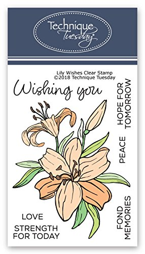 - Lily Wishes Clear Stamps | Flowers Rubber Stamps | Photopolymer Stamps | Card Making Supplies