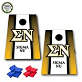 Sigma Nu Cornhole Bag Toss Game - Vertical Stripe - 8 Bags included