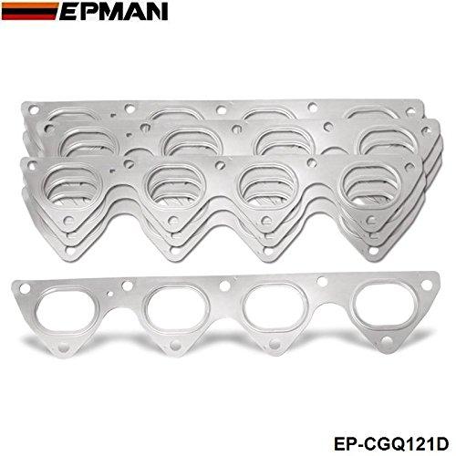 EPMAN -10PCS/LOT 3 Layer Stainless Steel Exhaust Manifold Header Gasket For Honda Integra Civic Crx B16 B16A B18 EP-CGQ121D
