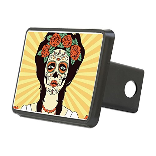 CafePress - Day of The Dead Hitch Cover - Trailer Hitch Cover, Truck Receiver Hitch Plug Insert ()