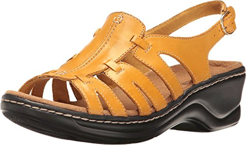 Clarks Mujer's Lexi Marigold Platform Golden Yellow