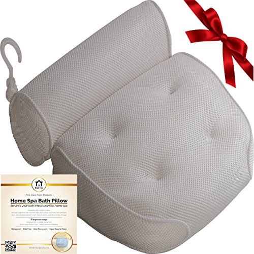 Royal Casa Bath Pillow – Non Slip, Luxury Bathtub Pillow