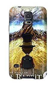 High-end Case Cover Protector For Galaxy S5(the Night Of The Rabbit Poster )