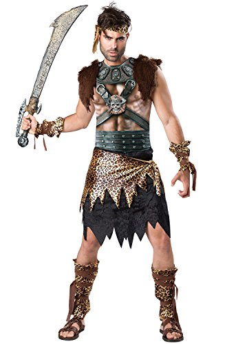 Fun World Men's Barbarian Warrior Costume, Multi, XL