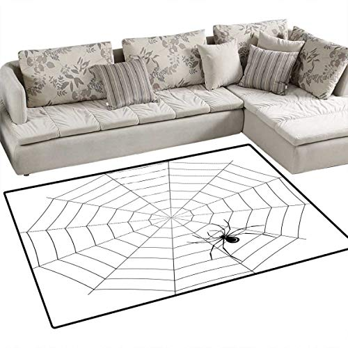 Spider Web Customize Door mats for Home Mat Toxic Poisonous Insect Thread Crawly Malicious Bug Halloween Character Design Door Mat Outside 40