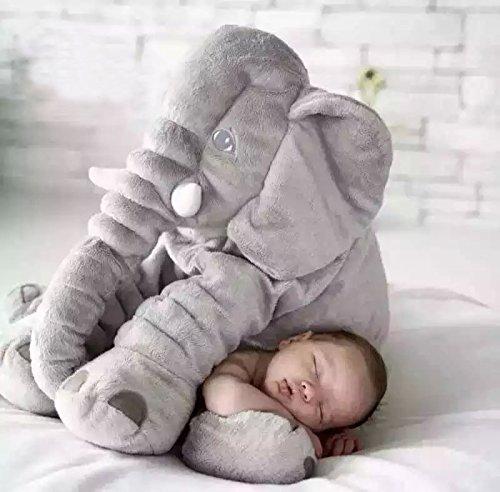 DONGER Beschwichtigen Elefanten Spielzeug Puppe Baby Kissen Puppe Baby Schlafen Schlafen Geburtstag Geschenk Mädchen Hauptbild 60 Cm Elefant grau
