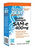 Doctor's Best SAM-e 400 mg, Vegan, Gluten Free, Soy Free, Mood and Joint Support, 30 Enteric Coated Tablets
