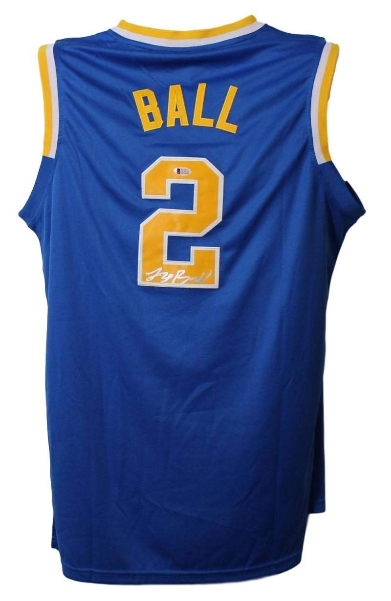 info for d8ef8 d1924 Lonzo Ball Autographed Signed UCLA Bruins Adidas XL Blue ...