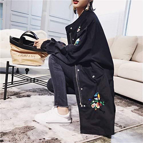 Vintage Longues Femme Blouson Manches Brod Fashion q6T6Cg8